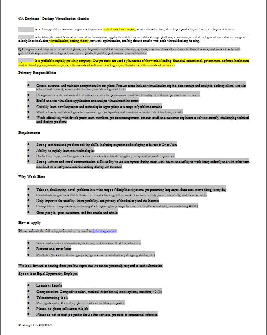 Job Description Review by Developers - QA Engineer | Geekology Blog